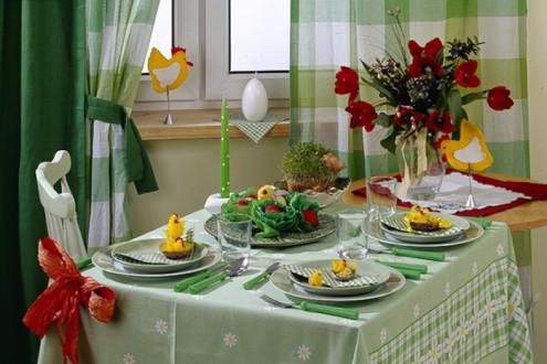 Сервировка стола к празднику Пасхи