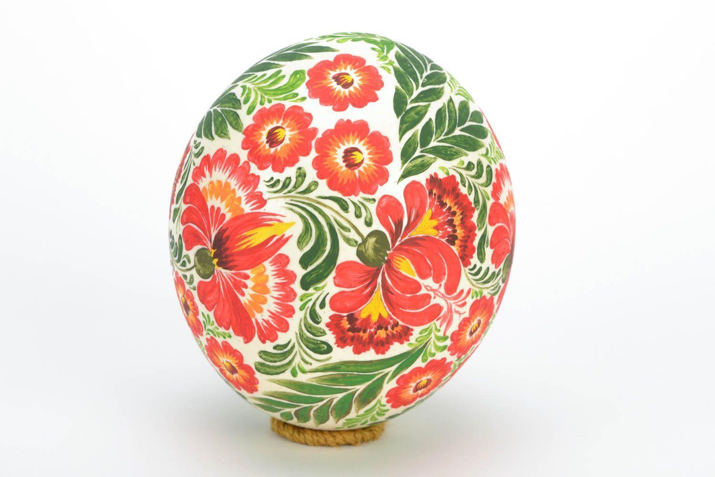 Петриковская роспись на яйце