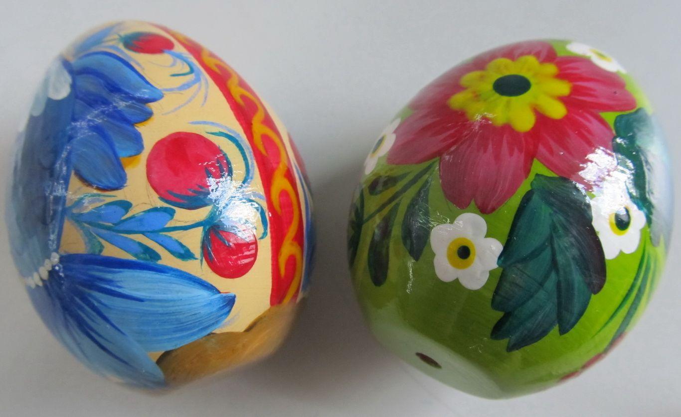 деревянные расписные яйца