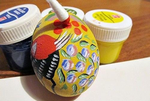 тычковая роспись яйца
